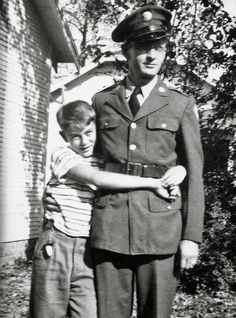 James Dean hugging his    father.