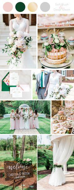 Soft Blush and Deep Green Wedding Color Scheme inspiration at Bella Rose Plantation in Lynchburg, VA | Forever Entwined Blog