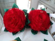 beth almofadas em capitonê: Rosa - almofada modelo de rosa