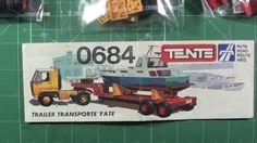 UNBOXING TENTE CAMION TRAILER TRANSPORTE CON YATE EXIN 1980 lego