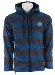 Sessions Kreuger Stripe Softshell Snowboard Jacket Blue Heather Stripe - Men's