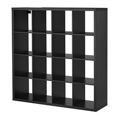 KALLAX Shelving unit - black-brown - IKEA - One of these can easily divide the room and create an entryway