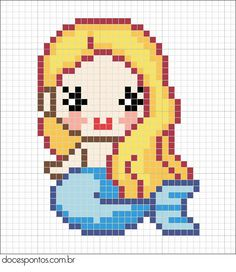 Mermaid cross stitch.