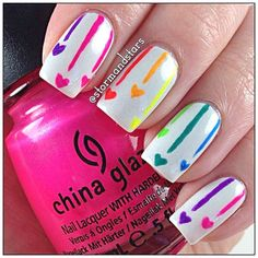 Nail art designs www. neon Nails - Nail art designs www.finditforwedd… neon Nails The Effective Pictures We Offer You About fashion - Rainbow Nails, Neon Nails, Diy Nails, Neon Rainbow, Fancy Nails, Cute Nails, Pretty Nails, Nail Art Motif, Valentine Nail Art