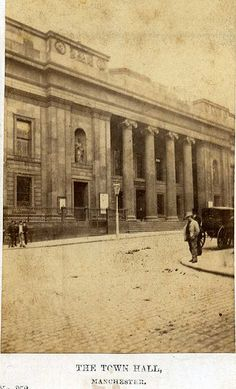 Manchester's first Town Hall, King Street (photographed from Cross Street),1860s