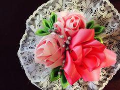 flower hair clip hair accessories #Handmade