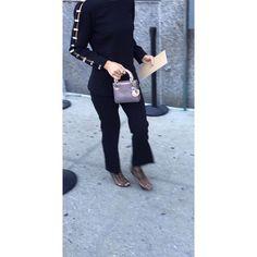 ❤️ this ensemble completed with the #ladydior micro metallic perforated #nyfw #purses #purseboppicks #pursebop #instadaily #instafashion #fashion #handbags #michaelkors