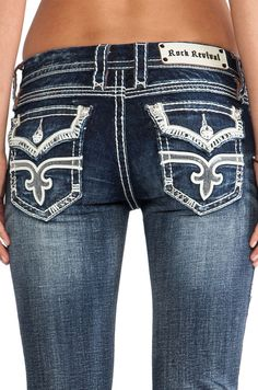 NEW Buckle ROCK REVIVAL Low Rise Maria Boot Stretch Jean 28 x 34 #RockRevival #BootCut
