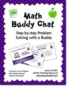 Math Buddy Chat is a step-by-step method for students to solve word problems with a buddy. In this activity, students alternate between working independently and working together as they solve e (Step Class Word Problems) Sixth Grade Math, First Grade Math, Fourth Grade, Math Talk, Math 2, Teaching Math, Math Teacher, Teaching Ideas, Math Resources