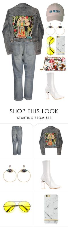 """""""Maria"""" by mikaylaperrine ❤ liked on Polyvore featuring Current/Elliott, GALA, Anton Heunis, Richmond & Finch and Gucci"""