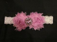 I love this shabby rose look for little girl headbands.