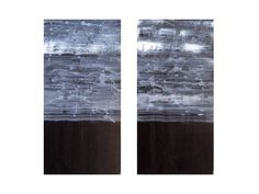 """ABSTRACT painting black and white ORIGINAL 12""""x12""""- two panels. $94.00, via Etsy."""