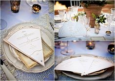 Wedding Fan Stationery - Menu and Order of Day