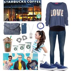 """""""Go to Starbucks with The Shield"""" by infinity-sabry on Polyvore"""