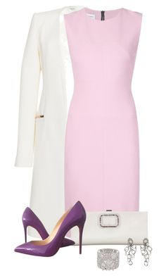 Untitled #255 by tijana89 on Polyvore featuring polyvore fashion style Narciso Rodriguez Thierry Mugler Christian Louboutin Roger Vivier Saqqara
