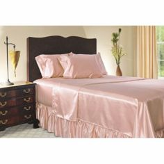 satin sheets and bed skirt-good price