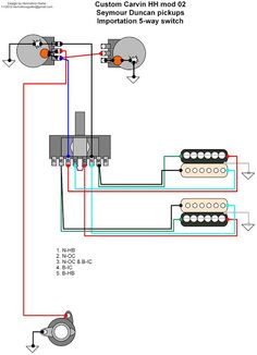 136 best electric guitar wiring modifications images guitar 5-Way Switch Wiring Diagram hermetico guitar wiring diagram custom carvin mods 02 and 03 5 way