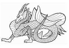 free printable coloring pages for adults advanced dragons Google
