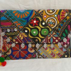 vintage banjara clutch bag, kutchbanjarahandicrafts.com, 37 USD, In stock