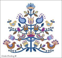 scandinavian folk art kurbits I love this! Folklore, Scandinavian Folk Art, Scandinavian Embroidery, Arte Popular, Art Graphique, Cool Ideas, Applique Quilts, Embroidery Patterns, Mandala