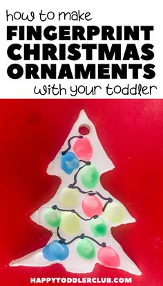 Looking for easy DIY Christmas ornaments for kids to make? These simple fingerprint Christmas ornaments are so easy you can make them with your toddler! These ornaments make a great DIY Christmas gift for grandparents from toddlers! Christmas Activities For Toddlers, Toddler Christmas Gifts, Diy Felt Christmas Tree, Christmas Gifts For Parents, Christmas Crafts For Gifts, Toddler Gifts, Indoor Activities, Winter Activities, Learning Activities