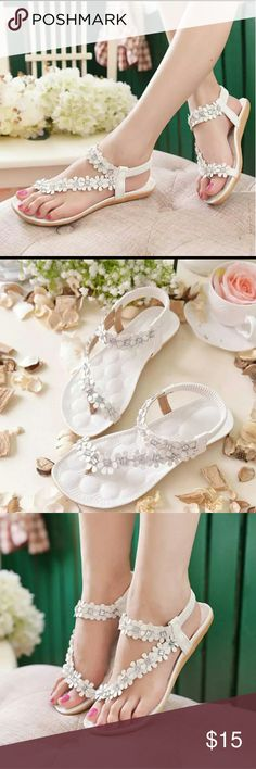 Bohemian Flowers and Rhinestone sandals Very cute pair! Only ordered one size for now to check quality.  These are adorable! Boutique  Shoes Sandals