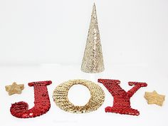 A Bubbly Life: DIY Sequin Letters For the Holidays!