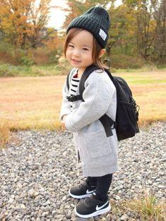 9f6c0f7785dcc Sara☻☻|b-roomのニットキャップ・ビーニーを使ったコーディネート. トドラーファッション幼児向けの洋服キッズ ...