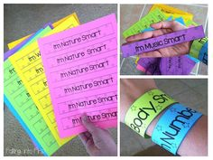 First Week Of School Activities. Everyone is Smart lesson! Bracelets for the student!