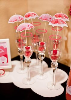 Rain Showers Baby Shower toothpicks Love this for the Next shower!!! I've attended more babyshower then any other party in my life time.