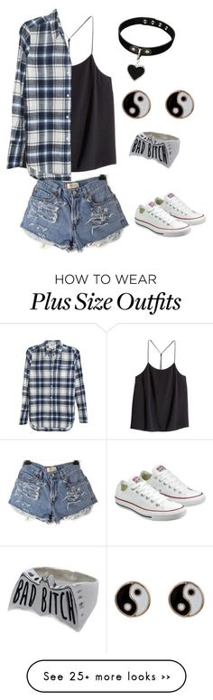 """Untitled #399"" by xxmia-hood-xx on Polyvore featuring H&M, Nili Lotan, Converse and Accessorize"