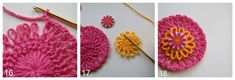 Crochet Hairpin Rosette