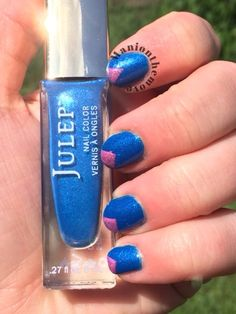 Triangle Tipped using Emily by Julep & Tilt-A-Whirl by Turtle Tootsie Polishes
