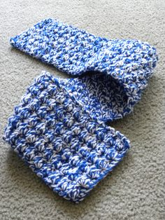 Scarf for the homeless ministry at church. Double threaded, single/half double/double crocheted.
