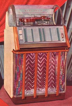 Wurlitzer 1650A, year 1953, selections 48, 45 rpm. Also 1650AF, year 1954, selections 48, 45 rpm.
