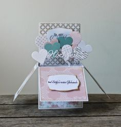 Kulricke Dies and Clearstamps: Hochzeit Box Karte Kulricke