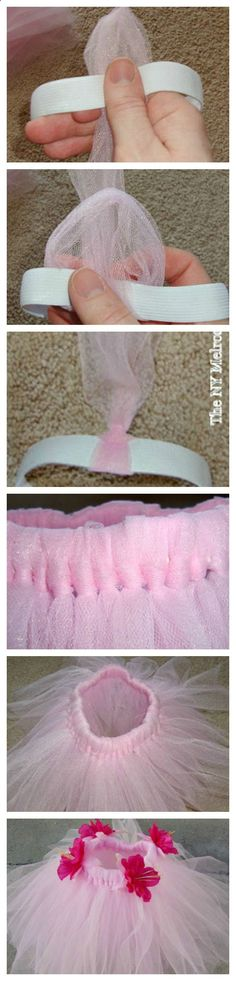 Infant Tutu Tutorial - No Sew