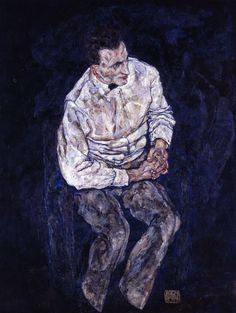 エゴン・シーレ「カール・グリュンヴァルトの肖像」 1917年、油彩・カンバス、140.7x110.2cm、豊田市美術館蔵