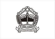 Logo Jawa Tengah hitam putih Vector