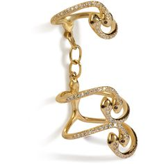 Ileana Makri Yellow Gold Snake Parade Ring ($4,829) ❤ liked on Polyvore featuring jewelry, rings, gold, 18k yellow gold ring, yellow gold rings, gold chain link ring, snake jewelry and gold knuckle ring