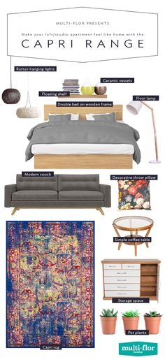 Now that you have your own space, it should reflect your new grown-up status. Size: x Simple Coffee Table, Coffee Table With Storage, Floor Lamp With Shelves, Loft Studio, Modern Couch, Decorative Throws, Double Beds, Studio Apartment, Wooden Frames