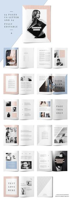 MALINA Brochure + 20 Pattern by AgataCreate on @creativemarket Ready for Print Magazine and Brochure template creative design and great covers, perfect for modern and stylish corporate appearance for business companies. Modern, simple, clean, minimal and feminine layout inspiration to grab some ideas.
