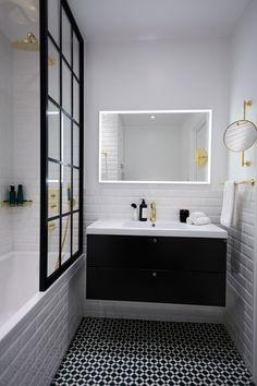 Master Bathroom Renovation Ideas : Designs, Tips, & Details Bathroom Renos, Laundry In Bathroom, Bathroom Renovations, Bathroom Faucets, Master Bathroom, White Bathroom, Bathroom Furniture, Bathroom Inspo, Bathroom Inspiration