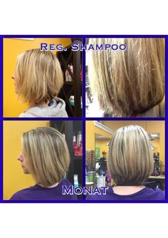 Regular shampoo VS Monat. Are you looking for results like this? Worried you might have to cut your bad ends off and start over, no, not with Monat. Contact me for samples. heatherbowen.mymonat.com