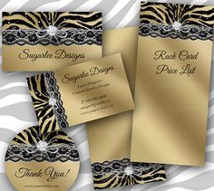 Fashion Business Cards Animal Zebra Suede Leopard This Is A Fully - Jewelry business card templates