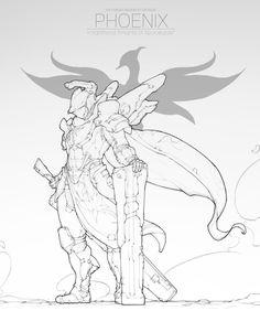 Phoenix5, Crux Lee on ArtStation at https://www.artstation.com/artwork/D6Ede