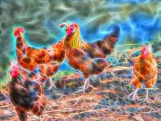 "Check out my art piece ""Abstract Rooster and Hens"" on crated.com"