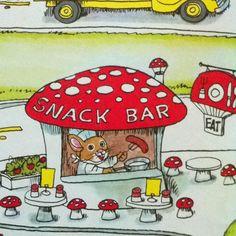 Richard Scarry mushroom cafe
