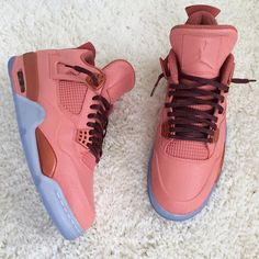 """Air Jordan 4 """"Luxury Laser"""" Custom by Shaquon Humphrey Sneakers Mode, Sneakers Fashion, Shoes Sneakers, Shoes Heels, Boot Over The Knee, Souliers Nike, Jordan Shoes Girls, Lit Shoes, Fresh Shoes"""