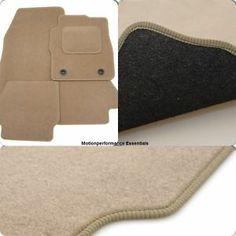 Perfect Fit Beige Carpet Car Mats for Mercedes E Class W123 76-85 - Heel Pad